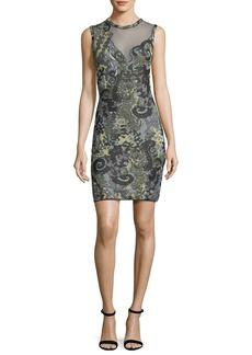 M Missoni Sea Jacquard Illusion Mini Dress