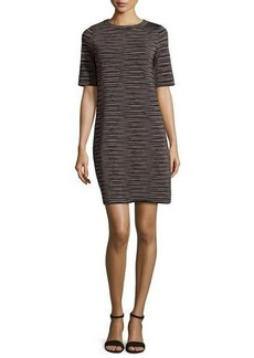 M Missoni Short-Sleeve Space-Dyed Shift Dress