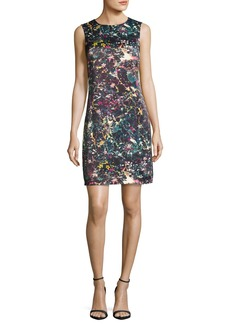 M Missoni Sleeveless Abstract Floral-Print Sheath Dress