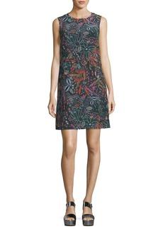 M Missoni Sleeveless Floral Forest-Print Silk Dress