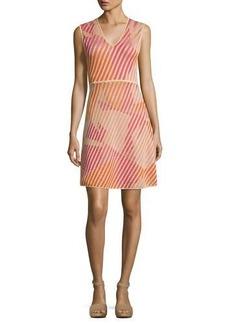 M Missoni Sleeveless Geometric-Patterned Knit Dress