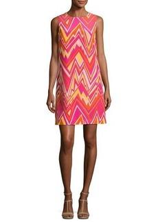 M Missoni Sleeveless Retro Zigzag Silk Shift Dress