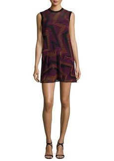 M Missoni Sleeveless Ribbed Geometric-Knit Dress