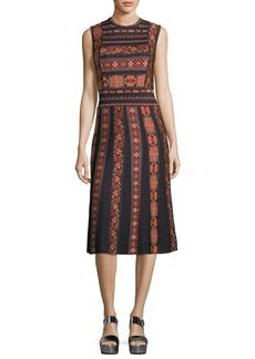 M Missoni Sleeveless Ribbon Jacquard Knit A-Line Dress