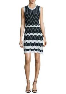 M Missoni Sleeveless Scoop-Neck Zigzag Dress