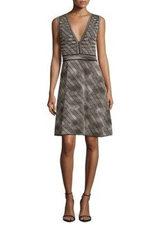 M Missoni Sleeveless Space-Dyed Fit-&-Flare Dress