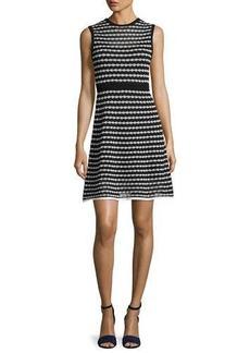 M Missoni Sleeveless Triangle-Striped A-Line Dress