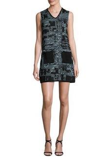 M Missoni Sleeveless V-Neck Boucle Shift Dress