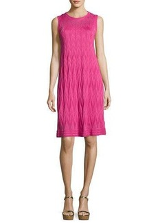 M Missoni Sleeveless Zigzag Knit Dress