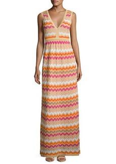 M Missoni Sleeveless Zigzag Maxi Dress