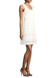 M Missoni Solid Rib Stitch Sleeveless Mini Dress