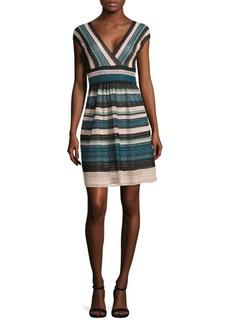 M Missoni Striped Multi-Laced Dress