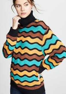 M Missoni Striped Turtleneck Pullover