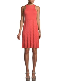 M Missoni Textured-Knit Sleeveless Dress
