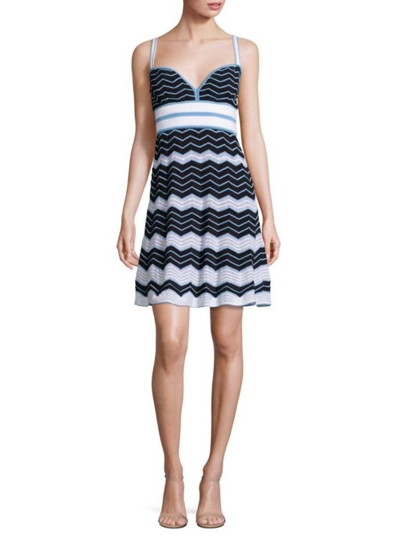 d86e2b8b7defd M Missoni M Missoni Vanise Pleated Zigzag Striped Dress
