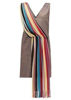 M Missoni Vintage-scarf lamé mini dress