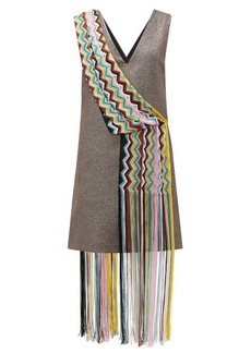 M Missoni Vintage scarf lamé mini dress
