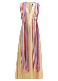 M Missoni Vintage-scarf silk-blend lamé maxi dress