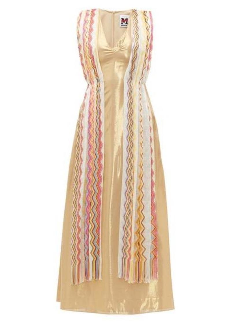 M Missoni Vintage-scarf silk-blend lamé maxi dress