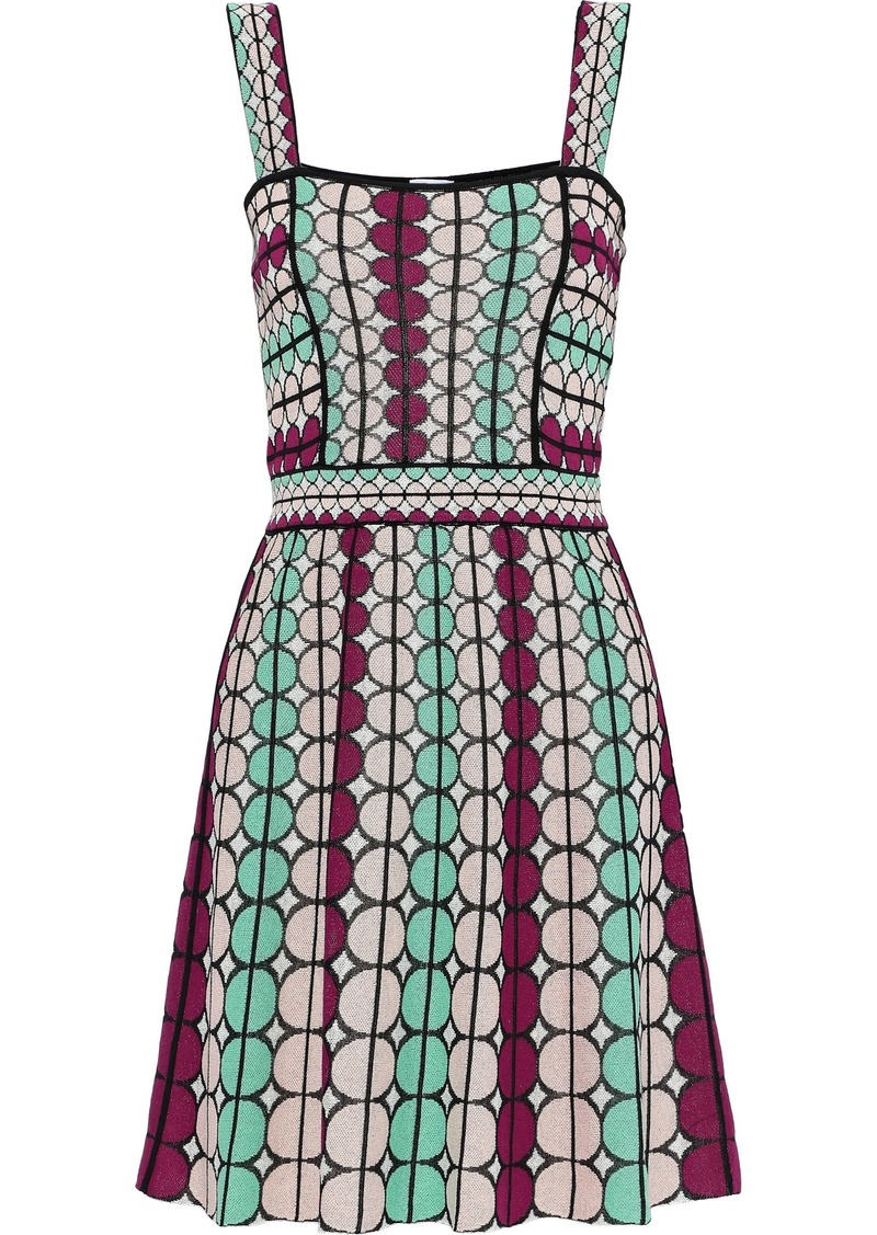 M Missoni Woman Cotton-blend Jacquard Dress Multicolor