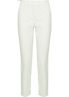 M Missoni Woman Cotton-blend Slim-leg Pants Off-white