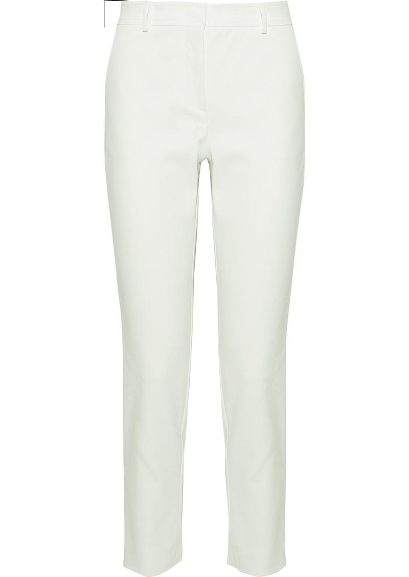 M Missoni Woman Cotton-blend Slim-leg Pants Off-white