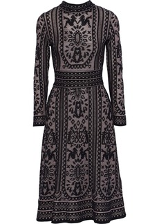 M Missoni Woman Crochet Cotton-blend Dress Black