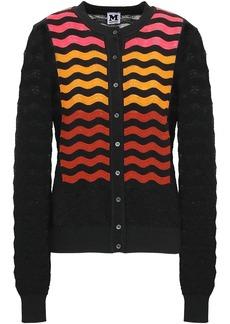 M Missoni Woman Crochet-knit Cardigan Black