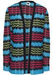 M Missoni Woman Crochet-knit Cardigan Light Blue