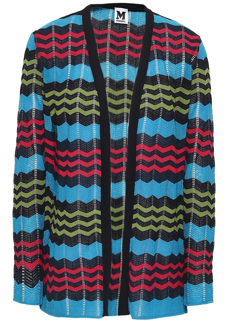 M Missoni Woman Crochet-knit Cardigan Light Blue