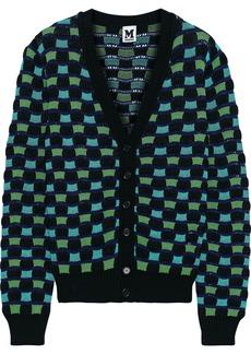 M Missoni Woman Crochet-knit Cotton-blend Cardigan Light Green