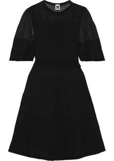 M Missoni Woman Crochet-knit Cotton-blend Dress Black