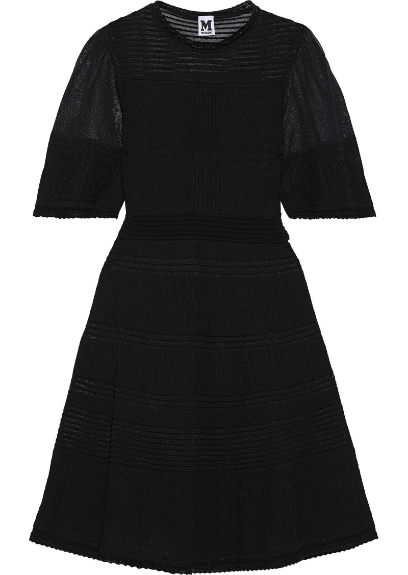 M Missoni Woman Crochet-knit Cotton-blend Dress Black