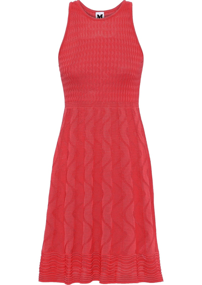 M Missoni Woman Crocheted Cotton-blend Dress Coral