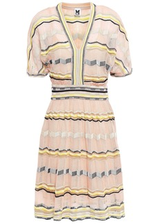 M Missoni Woman Crochet-knit Cotton-blend Dress Pastel Pink
