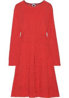 M Missoni Woman Crochet-knit Cotton-blend Dress Tomato Red