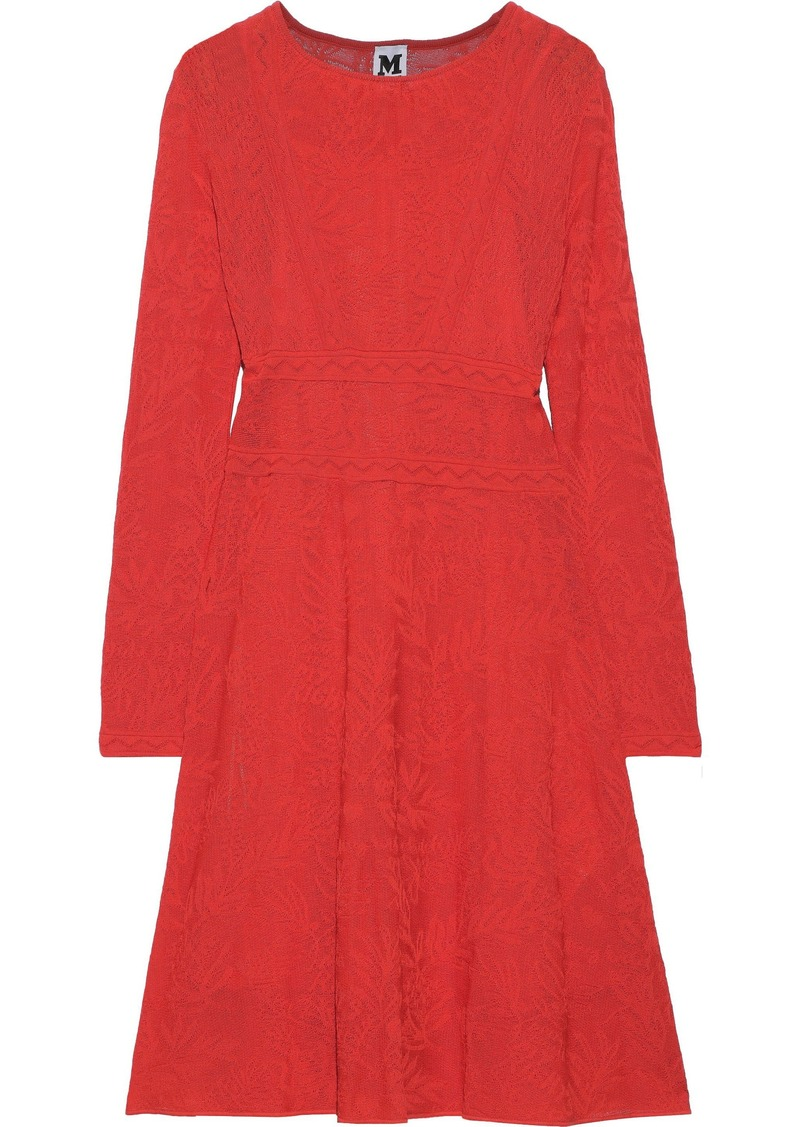 M Missoni Woman Crochet-knit Cotton-blend Dress Tomato Red