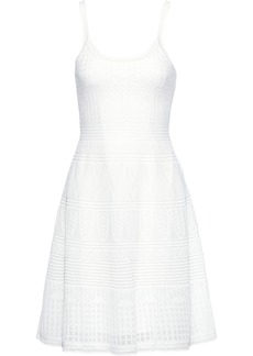 M Missoni Woman Crochet-knit Cotton-blend Dress White