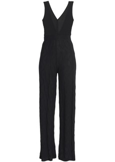 M Missoni Woman Crocheted Cotton-blend Jumpsuit Black