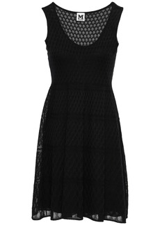 M Missoni Woman Crochet-knit Cotton-blend Mini Dress Black