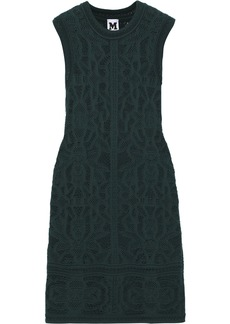 M Missoni Woman Crochet-knit Cotton-blend Mini Dress Emerald