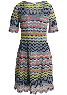 M Missoni Woman Crochet-knit Cotton-blend Mini Dress Multicolor