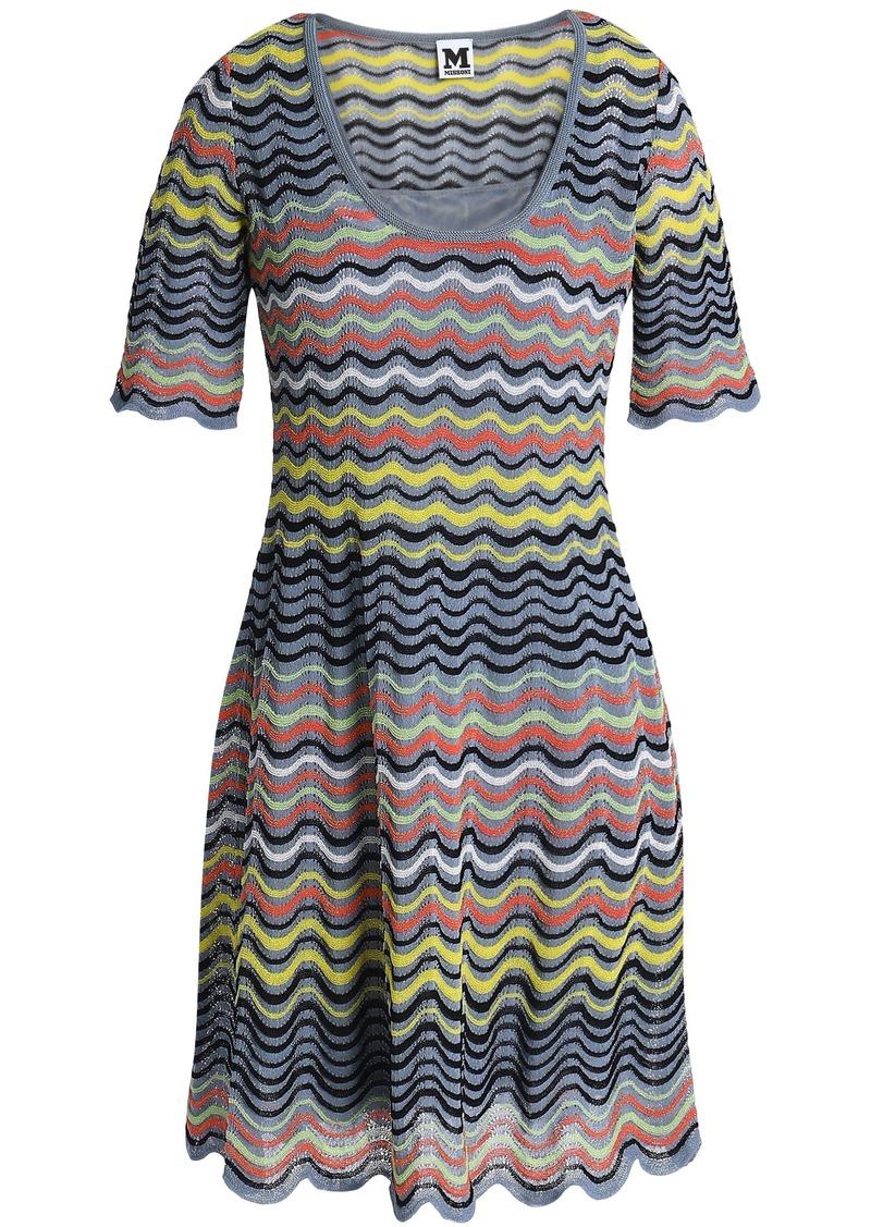 M Missoni Woman Crochet-knit Cotton-blend Mini Dress Multicolor