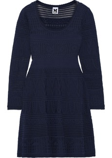 M Missoni Woman Crochet-knit Cotton-blend Mini Dress Navy