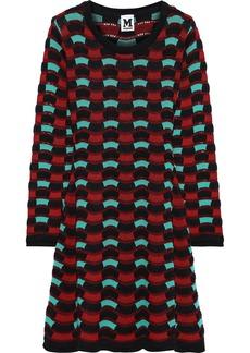 M Missoni Woman Crochet-knit Cotton-blend Mini Dress Brick