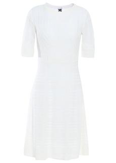 M Missoni Woman Crochet-knit Cotton-blend Mini Dress White