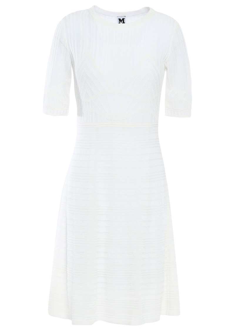 M Missoni Woman Crochet-knit Cotton-blend Mini Dress White