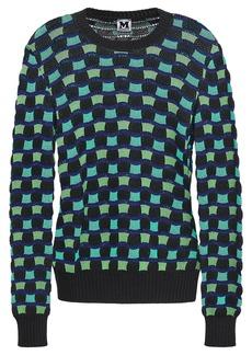 M Missoni Woman Crochet-knit Cotton-blend Sweater Light Green