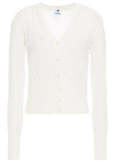 M Missoni Woman Crochet-knit Cotton Cardigan Off-white