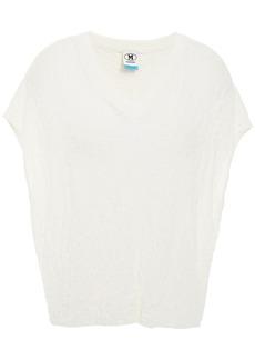 M Missoni Woman Crochet-knit Cotton Top White